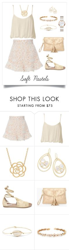 """""""Buttery Pastels"""" by shamrockclover ❤ liked on Polyvore featuring Alexis, Nookie, Lord & Taylor, Ippolita, Steve Madden, Chico's, Pascale Monvoisin, Suzanne Kalan and Movado"""
