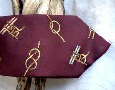 80s Chaps Necktie Ralph Lauren Silk Tie Nautical by MushkaVintage3