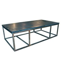 Stone Coffee Table with Metal