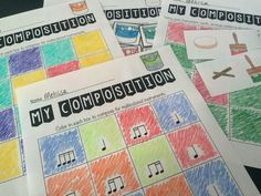 Color composing - such a cool idea! #musiceducation #generalmusic #kodaly #orff…