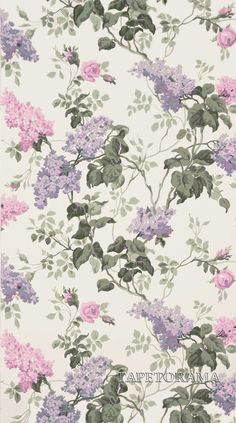 Sommerville Pink/White från Sanderson