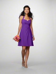 Alfred Angelo bridesmaid's dress: Style 7172, Color Viola