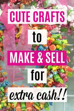Sewing Projects To Sell 50 Crafts to Make and Sell at Crafts Fairs and Flea Markets! A great list of things to make and sell…all easy ideas anyone can do, even kids and teens. Part of a series on ways to make extra money from home as a stay-at-home-mom! Money Making Crafts, Easy Crafts To Make, Cute Crafts, Diy And Crafts, Crafts For Kids, Tween Craft, Bead Crafts, Make To Sell, Crafts At Home