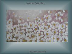 pink floral chaos  modern landscape  oil and par MorenaARTgallery, $100.00
