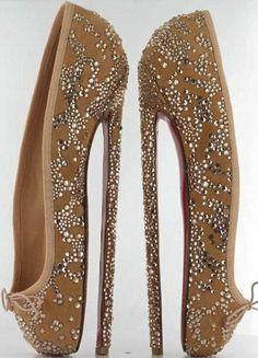 WTF. christian louboutin point shoe heels.