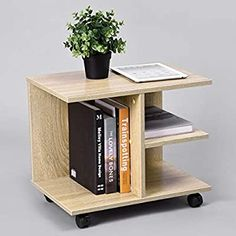 Wooden Storage Shelves, Open Shelving, Affordable Furniture Stores, Plant Table, Space Saving Furniture, Shelf Design, Furniture Legs, Nightstand, Bedside Tables