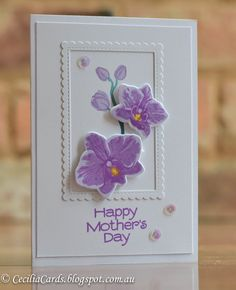 Mother's Day card with Hero Arts Layering Orchids