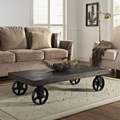 Garrison Wood Top Coffee Table - Overstock™ Shopping - Great Deals on Modway Coffee, Sofa & End Tables