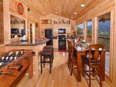 Cabins In Gatlinburg Tn, Big Screen Tv, Luxury, Interior, Furniture, Home Decor, Kitchen, Travel, Decoration Home