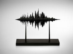 Sculptures made of sound waves.