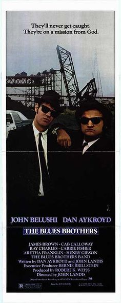 The Blues Brothers: 1980. Just saw this movie for the first time today lol.