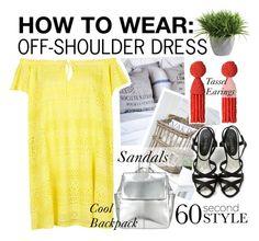 """Off-Shoukder Dress"" by asya-1 on Polyvore featuring мода, Topshop, Ethan Allen, Oscar de la Renta, Chanel и Kin by John Lewis"