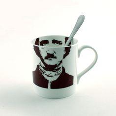 Edgard Allan Poe Mug Bone China Tea or Coffee by MoreThanPorcelain, €22.00
