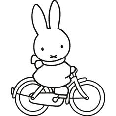 Colour with Miffy Cartoon Coloring Pages, Colouring Pages, Coloring Pages For Kids, Colorful Drawings, Easy Drawings, Baby Stickers, Miffy, Painted Rocks, Svg Cuts