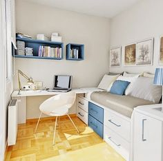 Small Modern Teen Bedroom 7 elegant small teen bedroom ideas | kids room | pinterest | small