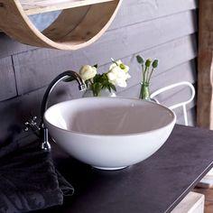 Vasque de salle de bain en porcelaine Hilde