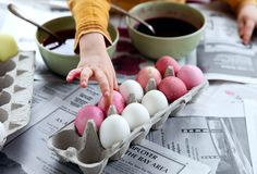 Dyed eggs, the natural way