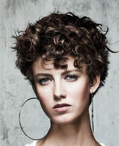 Short Hairstyles, Short Hairstyles For Thick Wavy Hair: New Style Short Hair. Short Hairstyles, Short Hairstyles For Thick Wavy Hair: New Style Short Hairstyles with Curly . Curly Hair Cuts, Short Hair Cuts, Curly Hair Styles, Curly Short, Curly Pixie, Thin Hair, Frizzy Hair, Curly Bob, Long Hair