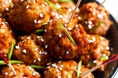 Theses baked teriyaki chicken meatballs = pure happiness. A simple dish perfect as an appetizer with friends. Ground chicken mixed with garlic, scallions, and fresh ginger is formed into balls, the…