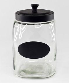 Another great find on #zulily! 91.3-Oz. Chalkboard Jar by Housewares International #zulilyfinds