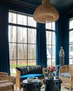 Serene Saturdays start here: theshadestore.com. #LoveYourWindows // Design: House of Nomad for the Interior Design Society Charlotte Designer Showhouse // Photo: Dustin Peck #idscharlotteshowhouse Woven Wood Shades, Solar Shades, Drapery, Window Treatments, Blinds, Windows, Interior Design, Modern, Charlotte