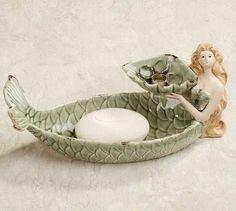 Mermaid Soap Dish, Ring Holder, Bird Feeder $23.99 www.mermaidhomedecor.com