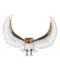 Another great find on #zulily! Large Hanging Metal Owl #zulilyfinds