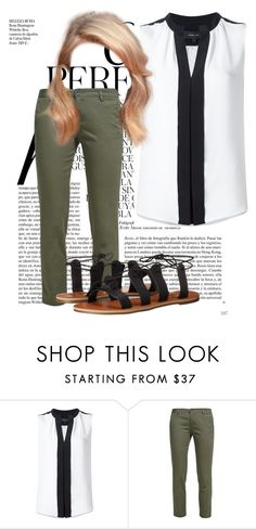 """Khaki pants"" by ivanoe ❤ liked on Polyvore featuring Whiteley, Derek Lam, Benetton and Billabong"