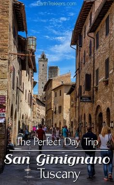 How to spend one perfect day in San Gimignano, Italy. This is one of the more popular hill towns to visit in Tuscany. Here are ideas of what to do and where to eat. San Gimignano makes a great day trip from Florence or Siena. Places To Travel, Places To Visit, Voyage Rome, Italy Travel Tips, Tuscany Italy, Siena Italy, Sorrento Italy, Naples Italy, Sicily Italy