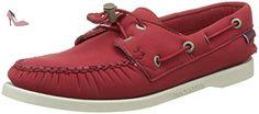 Sebago Docksides, Chaussures Bateau Femme, Rouge (Red Ariaprene), 36 EU - Chaussures sebago (*Partner-Link)