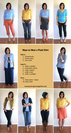 This is a lovely guide to plaid/gingham shirts!