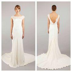 Sarah Janks cowl-back wedding dress