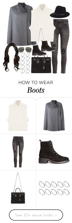 """""""Inspired outfit with h&m boots"""" by pagesbyhayley on Polyvore featuring H&M, Joseph, Étoile Isabel Marant, Yves Saint Laurent, rag & bone and ASOS"""