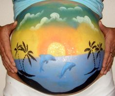 Pregnant Belly Painting is the HOT SUMMER TREND! Show off your BUMP at the beach or pool and have some fun with ProudBody belly paints! Leftover paints are great for the kids' face painting too. Join ProudBody's GROUP on FACEBOOK for more great photos and updates. https://www.facebook.com/groups/57940365739/