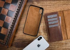 Iphone Wallet Case, Iphone Cases, Brown Things, Apple Watch Bands, Handmade, Etsy, Color, Brown Brown, Leather Case