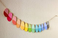 A cleaver Easter garland. So pretty, and CHEAP!!