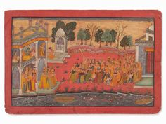 Large size miniature painting - 19th century