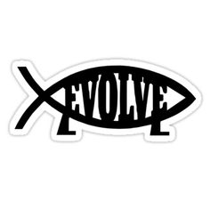 EVOLVE funny evolution science atheist darwin atheism fish by porsandi