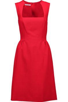 OSCAR DE LA RENTA Wool-blend faille dress. #oscardelarenta #cloth #dress