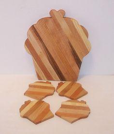 Cupcake Cutting Board and Coasters