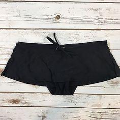 Patagonia Womens Size Small Solid Black Skirted Bikini Swimsuit Bottom  | eBay