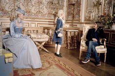 irsten Dunst and director Sofia Coppola on the set of Marie Antoinette, 2006