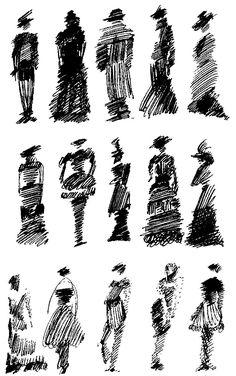 Pictures on request - art-Bilder auf Anfrage – Kunst Pictures on request - Sketches Of People, Drawing People, Pencil Art Drawings, Drawing Sketches, Drawing Ideas, Figure Drawing, Painting & Drawing, Scribble Art, Urban Sketching