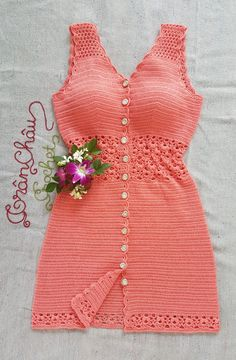 Crochet Baby Dress Pattern, Crochet Bra, Baby Girl Crochet, Crochet Blouse, Crochet Barbie Clothes, Crochet Fashion, Beautiful Crochet, Crochet Designs, Dresses