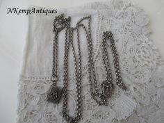 Antique silver muff chain  1910 for the collector by Nkempantiques