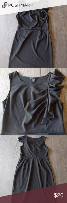 Classic LBD from Banana Republic This LBD will be your go-to for date night, weddings, galas and office parties. Very versatile and fun. Sleeveless with side ruffle Banana Republic Dresses