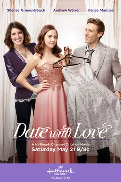 """Its a Wonderful Movie – Your Guide to Family Movies on TV: Hallmark Channel& Prom Movie """"Date With Love"""" starring Shenae Grimes-Beech, Andrew Walker and Bailee Madison! Hallmark Channel, Películas Hallmark, Films Hallmark, Family Christmas Movies, Hallmark Christmas Movies, Family Movies, Bailee Madison, Tv Movie, Netflix Movies"""
