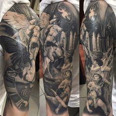 Church and Angels tattoo