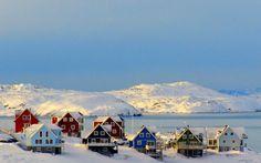 Snowy on Nuuk Greenland