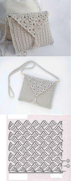 Crochet Bag Tutorial Diy Purse Patterns Ideas For 2019 Bandeau Crochet, Bag Crochet, Crochet Clutch, Crochet Handbags, Crochet Purses, Crochet Gifts, Crochet Clothes, Crochet Lace, Thread Crochet
